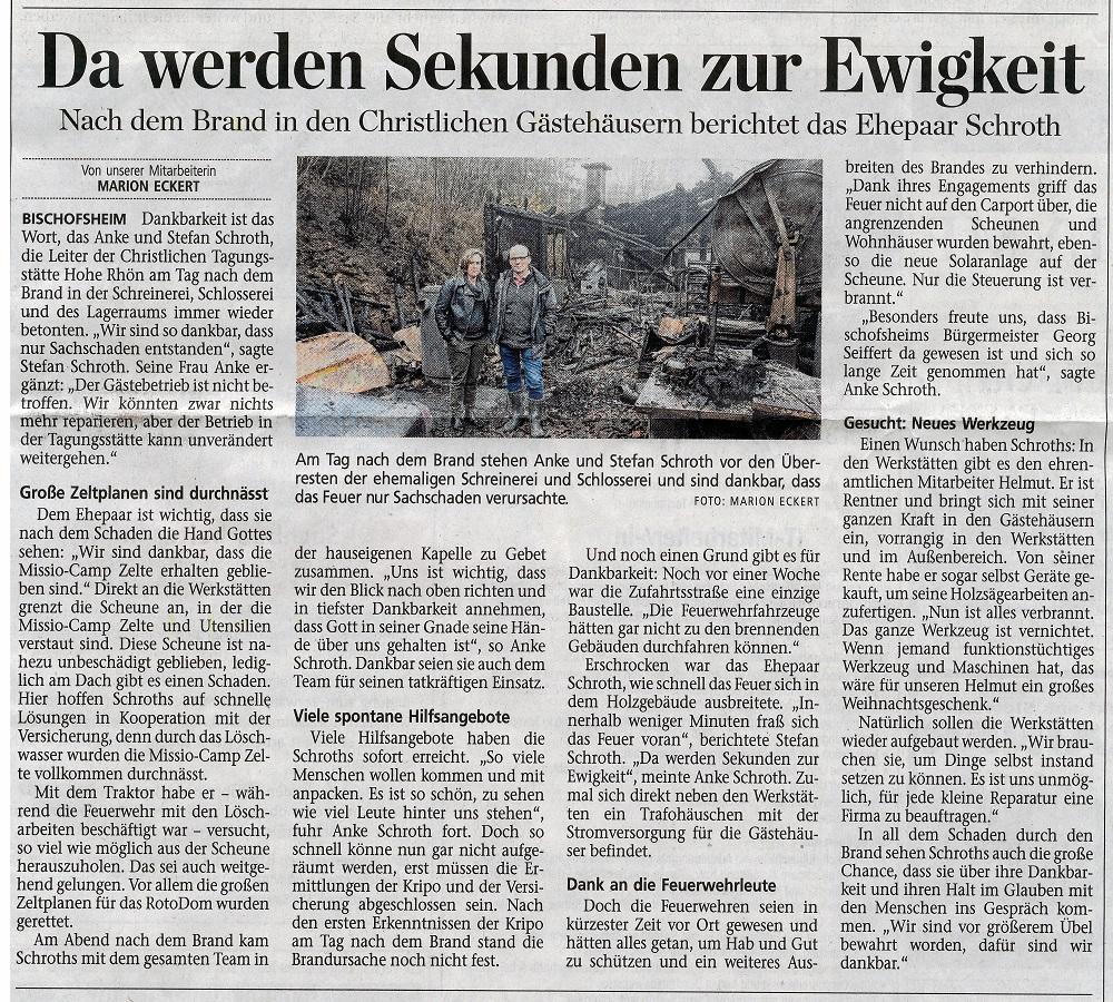 Artikel in der Mainpost vom 18.11.17